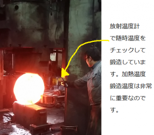 鍛造 温度 管理 大阪 東福鍛工 品質管理